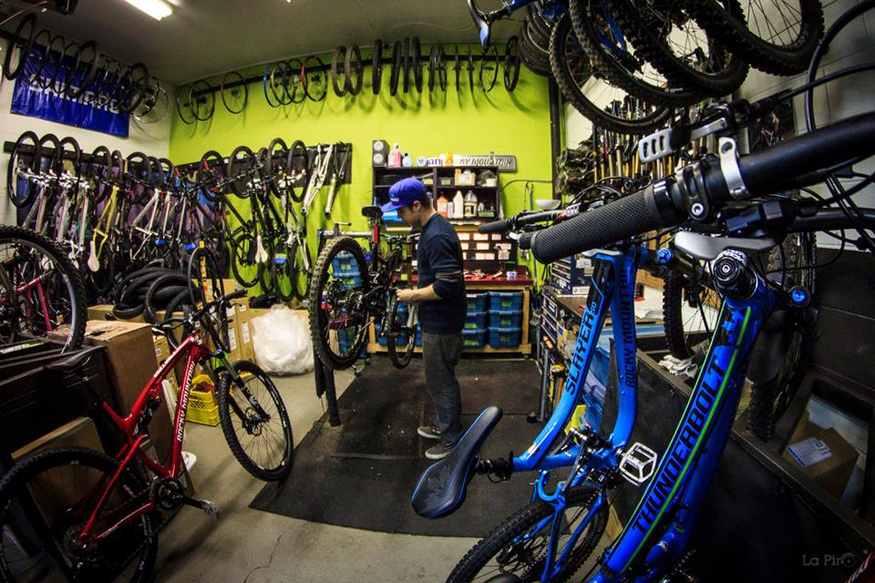Eli and the fleet of bikes he maintains for Endless Bikes